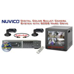 COMPLETE 2 B/W BULLET CAMERA SYSTEM WITH DIGITAL RECORDER