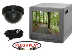 COMPLETE SINGLE COLOR DOME CAMERA SYSTEM