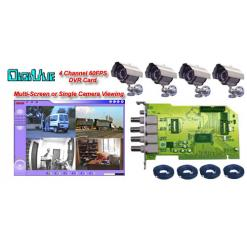 COMPLETE 4 CAMERA COLOR IR WEATHERPROOF NIGHTVISION SYTEM USING YOUR OWN PC  ***PC-Based***