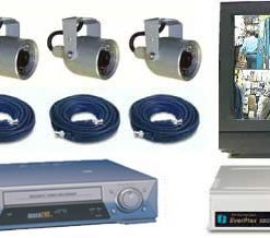 COMPLETE 4 ANALOG COLOR INFRA RED CAMERA SYSTEM W/* Samsung 960 Hour Recorder*