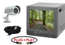 COMPLETE SINGLE CAMERA DAY/NIGHT NIGHTVISON INDOOR/OUTDOOR SYSTEM