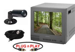COMPLETE SINGLE COLOR HIGH RESOLUTION INDOOR/OUTDOOR BULLET CAMERA SYSTEM