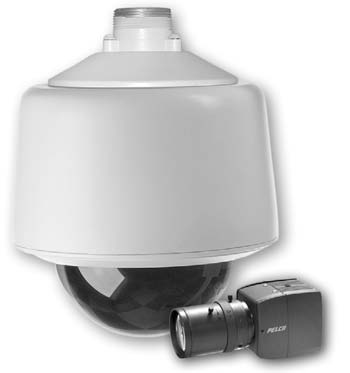 PELCO DF5MA-PG-2V3A DomePak Chrome Gray Pendant B-W 38mm AI